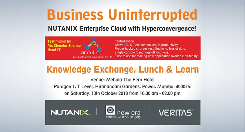 Nutanix – Veritas – New Era Lunch and Learn – The Fren – Powai